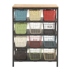 Sturdy Metal Wood Storage Rack - Description: