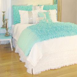Davenport - Turquoise Chiffon Duvet Cover - Turquoise Chiffon Duvet Cover