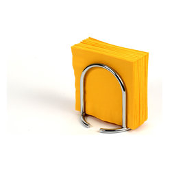 Spectrum Diversified Designs - Euro Napkin Holder - Chrome - From the Euro Collection, this Napkin Holder keeps napkins neat, stacked and contained. Made of steel with chrome finish.