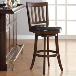 INSPIRED by Bassett Mission Bar Stool In Espresso Finish -