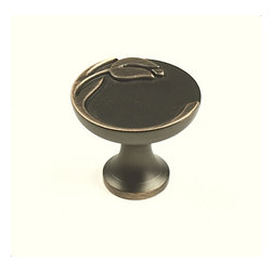 "Century Hardware - Tulip Knob - Zinc Die Cast, Knob, 1-3/16"" diameter, Antique Bronze/ Copper, 1 inch projection."
