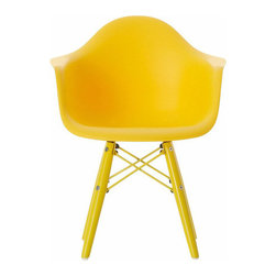 Little Nest Bucket Chair, Yellow - Don't leave the little ones out when updating your home this spring. This miniature bucket chair will add a bold pop of color to any children's area.