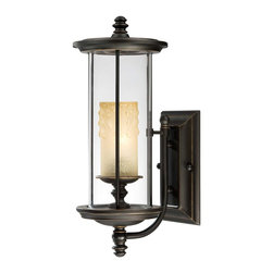 Savoy House - Chestatee Wall Mount Lantern, Small - Almost like a museum piece, the light fixture of this lantern is exhibited on a base and beautifully encased. Its clear cylindrical structure provides you and other admirers with unobstructed viewing pleasure.