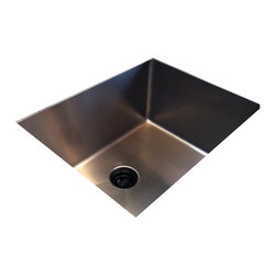 """Create Good - 1/2"""" Radius UltraClean Medium Single Bowl Sink - Undermount - SS5SNN - This medium single bowl undermount kitchen sink is the world's cleanest, winning first place at the Kitchen and Bath Industry Show. The dirty seam that surrounds the drain has been eliminated creating a beautiful focal point in the sink. The inside bowl measures 20"""" x 16 x 10"""" deep with 1/2"""" radius corners. A sink with a perfect, sanitary drain."""