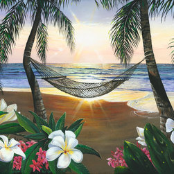 Murals Your Way - Twilight Hammock Vinyl Wall Decal, Wall Art - Painted by Scott Westmoreland, the Twilight Hammock Vinyl Wall Decal from Vinyl Wall Decals Your Way wil be a great addition to any room in your