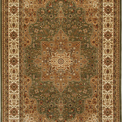 """Home Dynamix - Home Dynamix Triumph, Green, 7'9""""x10'2"""" Rug - Triumph Rugs have traditional Persian designs in todays colors and tones. They will add a classic touch to any room. These Triumph rugs have 1 Million Points Per Square Meter, making the rugs in this collection dense, plush and soft."""