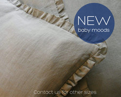 Nursery bedding - 100% pure linen, pre-washed - 4 pcs. - MOODS BABY BEDDING