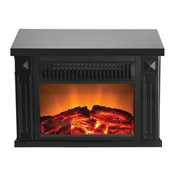 Frigidaire - Frigidaire Zurich Tabletop Retro Electric Fireplace - Black - TZRF-10345 - Shop for Fire Places Wood Stoves and Hardware from Hayneedle.com! The compact Frigidaire Zurich Tabletop Retro Electric Fireplace - Black works with or without heat so you can enjoy the glow of flames all year round at your desk or table. Simply plug it into a standard outlet to enjoy radiant heat and a charming ambiance complete with realistic logwood flame effect. Built-in overheat protection offers peace of mind and the unit's cool touch housing features traditional details and a sleek black finish that complements any decor. About FrigidairePerhaps one of the most recognized names in American kitchens Frigidaire was founded in 1916 in Fort Wayne Indiana. During those early days the company was responsible for producing the first self-contained refrigerator; over the years little changed. They were eventually responsible for other landmark inventions including the first air conditioner the first home food freezer and the first 30-inch electric range.With such a legacy of innovation it's little wonder that Frigidaire is still a leader in the appliance industry. With a wide range of products from large to small Frigidaire is still outfitting kitchens in America and across the globe with high quality reasonably priced products designed to suit our busy lifestyles. Why not trust your family's meals to a company with a history of being on top?