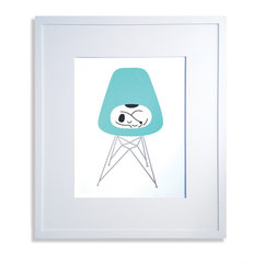 Dog in Chair Print - Limited edition signed screen print