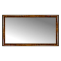 "Posters 2 Prints, LLC - 44"" x 25"" Belmont Light Brown Custom Framed Mirror - 44"" x 25"" Custom Framed Mirror made by Posters 2 Prints. Standard glass with unrivaled selection of crafted mirror frames.  Protected with category II safety backing to keep glass fragments together should the mirror be accidentally broken.  Safe arrival guaranteed.  Made in the United States of America"