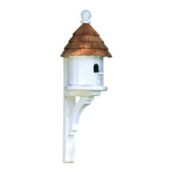 G.D. - Lazy Hill Farm Designs Small Shingled Bird House - An adaptation of our popular Lazy Hill Bird House, this version makes a good home for any small bird.