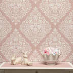 Love Birds Lace Damask Stencil - Surrender to love with our new Love Birds Lace Damask Stencil from Royal Design Studio. Filled with swirling floral details and sweet bird motifs, it's ideal for painting a baby's nursery or a sophisticated feature wall in any space of your home.