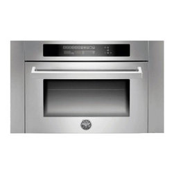 Bertazzoni - SO24PROX 1.34 cu. ft. Capacity 24/30 Combination Speed Microwave Oven With 13 Pr - This will be thebest combination microwave oven you39ll ever use with 13 preset cooking modes and 134 cu ft capacity With its family sized capacity the combined multi-function electric and microwave oven has convection regular or broiler heating mode...