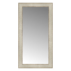 """Posters 2 Prints, LLC - 14"""" x 26"""" Libretto Antique Silver Custom Framed Mirror - 14"""" x 26"""" Custom Framed Mirror made by Posters 2 Prints. Standard glass with unrivaled selection of crafted mirror frames.  Protected with category II safety backing to keep glass fragments together should the mirror be accidentally broken.  Safe arrival guaranteed.  Made in the United States of America"""