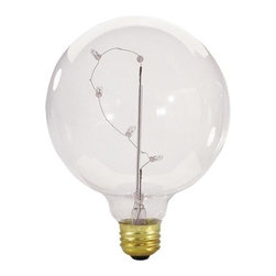 Bulbrite - Globe Starlight Mirror Light Bulbs - 12 Bulbs - One pack of 12 Bulbs. 130 V E26 base incandescent G40 bulb type. Dimmable. 360 degree beam spread. Five internal miniature bulb for distinct lighting style. Ideal for hotels, casinos, malls, lobbies in resorts, canopies, marquees and displays. Wattage: 5 W. Lumens: 10. Average hours: 30000. Color rendering index: 100. Maximum overall length: 6.75 in.