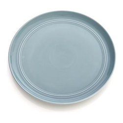 Hue Blue Salad Plate - Our fresh, contemporary porcelain pattern from designer Aaron Probyn tells a mix 'n' match color story, hand-glazed in eight soft, soothing hues. Simple artisanal shapes feature grooved detailing and a glowing, glossy finish, here in serene sky blue. Due to their handcrafted nature, slight variations will be present. Also available in ivory, white, dark grey, taupe, green, light grey and blush.