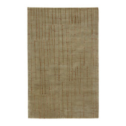 Surya - Surya Shibui SH-7405 (Spanish Moss Dark Fern Burgundy) 4' x 6' Rug - Julie Cohn is an artist, designer and the developer of products and designs for the corporate and home interiors markets. She is a founding partner in the multidisciplinary product firm, Two Women Boxing and surface design firm Julie Cohn Design. Formed in 1998, Julie Cohn Design focused on surface design for china and glass, carpets, rugs, wall covering, and other home accessories. Hospitality and design firms have enlisted her talents for large hotel projects for Ritz, Hyatt, Hilton and others. This Tibetan weave collection, Shibui, is rich, elegant, and urbane. Masterfully mixing wool with silk, the details and finesse are exquisite.