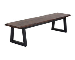Uniquely Crafted Solid Acacia Wood Bench - Uniquely Crafted Solid Acacia Wood Bench
