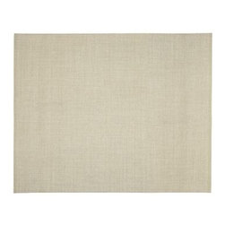 Solid Sisal Rug, 8 x 10', Linen - Incredibly durable and stylish, our woven sisal rug is the ultimate basic.Handcrafted of natural sisal by artisan rug makers.Flat, tight boucle weave.Durable fiber is ideal for high-traffic areas.Rug swatches, below, are available for $25 each. We will provide a merchandise refund for rug swatches if they're returned within 30 days.Use with our Rug Pad (sold separately).Catalog / Internet Only.Woven in the USA of imported fiber.