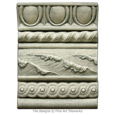 Traditional Accent Trim And Border Tile by Fine Art Tileworks — Handmade Relief Tile