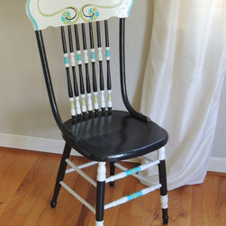 Black, White & Turquoise Chair -