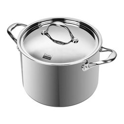 Cook N Home - Cooks Standard 8-quart Multi-ply Clad Stainless Steel Stockpot - This 8-quart stockpot by Cooks Standard features Air-Flow Technology makes handle stay cooler than normal handle type. Constructed of an alloy aluminum clad in 18-10 stainless steel this stockpot benefits from the best of elements.