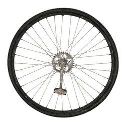 Silver Nest - Bike Wheel Wall Sculpture - Working Bicycle Wheel Wall Sculpture. 26x26.