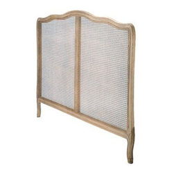 Candelabra Home - Candelabra Home Wood Cane Headboard Queen - Queen size wood cane headboard by Candelabra Home.