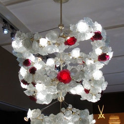 Biggs Ltd. Roses Chandelier Daum Crystal $680,000.00 - Daum Crystal. This magnificent Roses Chandelier is made from in France by Daum crystal. It is made up of 448 French crystal roses. Please feel free to send inquiries to the gallery at 800-362-0677 or via www.biggsltd.com