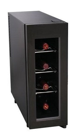 Curtis - Igloo 4 Bottle Wine Cooler - Igloo 4-Bottle Wine Cooler is perfect for any wine enthusiast. The sleek design will fit in with any decor and the four-bottle capacity will ensure that you will always have your favorite wine chilled. Igloo 4-Bottle Wine Cooler: 4-bottle capacity Vertical design Chrome racks Temperature control Glass door - Black  This item cannot be shipped to APO/FPO addresses. Please accept our apologies.