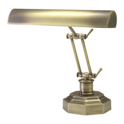 """House Of Troy - House Of Troy 14"""" Transitional Piano/Desk Lamp X-BA-302-41P - Double adjustment arm piano lamp with 9 foot brown cord. Shade swivels to direct light."""