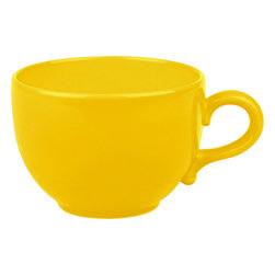 Waechtersbach - Set of 4 Jumbo Cups Fun Factory Buttercup - Make mornings lively with these Fun Factory Buttercup Jumbo Cups. Available in a variety of bold hues, these oversized round mugs are a must-have for every cocoa or coffee lover.