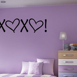 X heart x Heart Vinyl Wall Decal hd052, Pink, 60 in. - Vinyl Wall Quotes are an awesome way to bring a room to life!