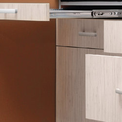 Kitchens in Bamboo design - A place for a built-in oven in you kitchen.