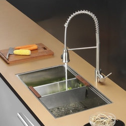 Ruvati - Ruvati RVC2378 Stainless Steel Kitchen Sink and Stainless Steel Faucet Set - Ruvati sink and faucet combos are designed with you in mind. We have packaged one of our premium 16 gauge stainless steel sinks with one of our luxury faucets to give you the perfect combination of form and function.