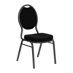 Flash Furniture - Flash Furniture Hercules Series Teardrop Back Chair with in Black - Flash Furniture - Stacking Chairs - FDC04SILVERVEINS076GG - This is one tough chair that will withstand the rigors of time. with a frame that will hold in excess of 500 lbs. the Hercules Series Banquet Chair is one of the strongest banquet chairs on the market. You can make use of banquet chairs for many kinds of occasions. This banquet chair can be used in Church Banquet Halls Wedding Ceremonies Training Rooms Conference Meetings Hotels Conventions Schools and any other gathering for practical seating arrangements. The banquet chair is also great for home usage from small to large gatherings. For any environment that you use a banquet chair it will put your guests at a greater comfort level with the padded seat and back. Another advantage is the stacking capability that allows you to move the chairs out of the way when not in use. with offerings of comfort and durability you can be assured that you can enjoy this elegant stacking banquet chair for years to come. [FD-C04-SILVERVEIN-S076-GG]