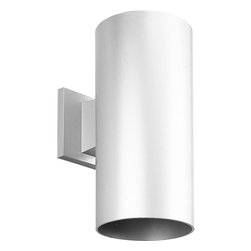 "Progress Lighting - Progress Lighting 6"" Aluminum Cylinder Outdoor Wall Sconce X-03-1465P - A modern and elongated cylindrical shape ensures that this Progress Lighting outdoor wall sconce will add a touch of sophistication and elegance to any outdoor space. The cylindrical design is available in your choice of finishes, allowing it to blend in or stand out against your home. Powder coat finishes. UL Listed for wet locations."