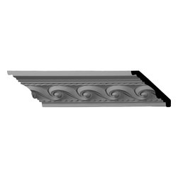 """Ekena Millwork - Marseille French Scroll Crown Moulding - 2 5/8""""H x 2 3/8""""P x 3 5/8""""F x 96""""L, (2"""" Repeat) Marseille French Scroll Crown Moulding. Our beautiful panel moulding and corners add a decorative, historic feel to walls, ceilings and furniture pieces- They are made from a high-density urethane which gives each piece the unique details that mimic that of traditional plasting and wood designs but at a fraction of the weight- This means a simple and easy installation for you- The best part is that you can make your own shapes and sizes by simply cutting the moulding pieces down to size and then butting them up to the decorative corners- These are also commonly used for an inexpensive wainscot look-Features- Modeled after original historical patterns and designs-- Constructed from solid urethane for maximum durability and detail-- Lightweight for quick and easy installation-- Factory-primed and ready for paint or faux finish-- Can be cut, drilled, glued and screwed-- Designed for use on both interior and exterior applications-- Material- Urethane"""