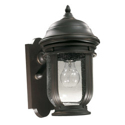 Quorum International - Quorum International 7180-1-95 Summit Old World Outdoor Wall Sconce - Quorum International 7180-1-95 Summit Black Outdoor Wall Sconce