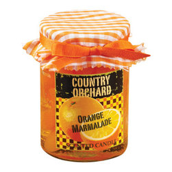 Deco Glow - Country Orchard Marmalade Candles, Set of 4 - Reminiscent  of  cool  coutry  mornings  with  tea  and  toast,  this  country  orange  marmalade  candle  will  fill  your  home  with  the  fragrance  of  citrus.  When  it  isn't  in  use,  the  attractive  jar  and  checkered  cloth  lid  cover  will  turn  it  into  an  adorable  decor  item  for  your  rustic  kitchen.  What  better  way  to  bring  color  and  character  to  your  kitchen  shelves.  Includes  four  candles  in  the  pack.
