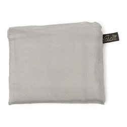 Yala® - Yala® Silk Pocket Pillowcase, Pebble Gray - Handy for travel, Yala's roomy Pocket Pillowcase folds up neatly into a sewn-in pocket for easy packing. 100% silk comfort means you'll want to unpack it at home too. In many delicious colors, the Pocket Pillowcase also makes a great gift for a frequent flyer.