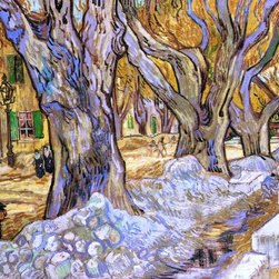 "Vincent Van Gogh Large Plane Trees - 16"" x 20"" Premium Archival Print - 16"" x 20"" Vincent Van Gogh Large Plane Trees premium archival print reproduced to meet museum quality standards. Our museum quality archival prints are produced using high-precision print technology for a more accurate reproduction printed on high quality, heavyweight matte presentation paper with fade-resistant, archival inks. Our progressive business model allows us to offer works of art to you at the best wholesale pricing, significantly less than art gallery prices, affordable to all. This line of artwork is produced with extra white border space (if you choose to have it framed, for your framer to work with to frame properly or utilize a larger mat and/or frame).  We present a comprehensive collection of exceptional art reproductions byVincent Van Gogh."