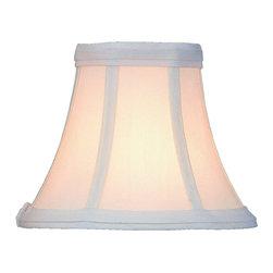 "Lite Source - White Clip-On Candelabra Shade 3"" Top x 6"" - A beautiful White candelabra shade."