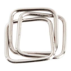 Saro - Silver Napkin Ring SET/4 - Silver Napkin Ring SET/4