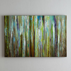 """Horchow - """"Colorful Expressions"""" Painting - MULTI COLORS - """"Colorful Expressions"""" PaintingDetailsEach piece may have subtle differences due to handcrafting.Hang vertically or horizontally; hanging hardware included.60""""W x 1.5""""D x 40""""T.Imported."""