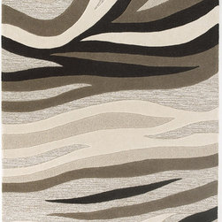 Kas - Chevron Sandstorm Natural Eternity Modern 5' x 8' Kas Rug  by RugLots - Step into our world and experience a multi-textured masterpiece from our Eternity Collection. Hand-tufted in India of 100% quality wool, these rugs are woven using multi-textured wool, a versatile color palette and a Hi/Lo effect, bringing modern simplicity into our lives. The combination of timeless colors and a variety of textures will create an everlasting presence in any room while setting the foundation for any decorating style.