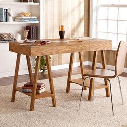 Upton Home Windhorst Oak Writing Office Desk -