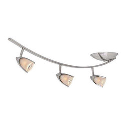 Access Lighting - Access Lighting 52034-BS/OPL Comet Modern Track Light - Brushed Steel - Access Lighting 52034-BS/OPL Comet Modern Track Light In Brushed Steel