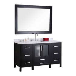 "Design Element - Design Element B60-DS Stanton 60"" Single Sink Vanity Set in Espresso - Design Element B60-DS Stanton 60"" Single Sink Vanity Set in Espresso"