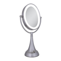 LED Lighted Oval Magnifying Vanity Mirror - Zadro Dual-Sided LED Lighted Oval Magnifying Vanity Mirror (Kitchen)